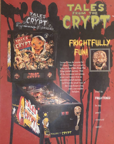 Tales From The Crypt Pinball Flyer