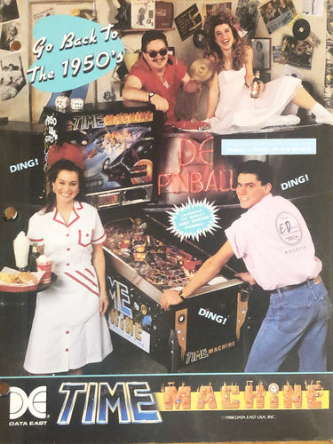 Time Machine Pinball Flyer