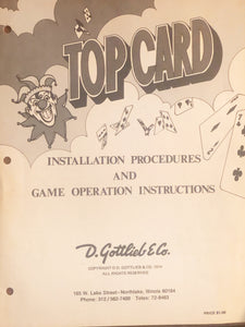 Top Card Complete Pinball Manual