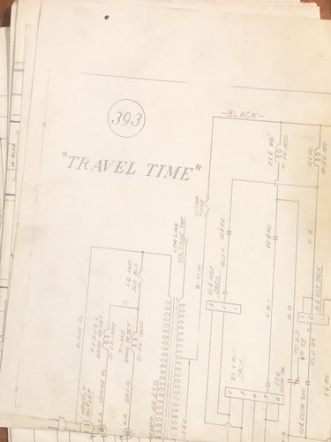 Travel Time Pinball Schematic Only