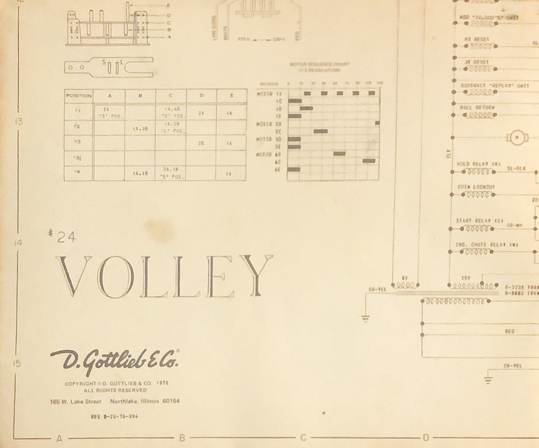Volley Pinball Schematic