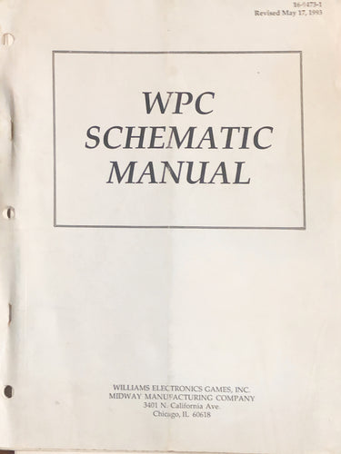 WPC Pinball Schematic Manual