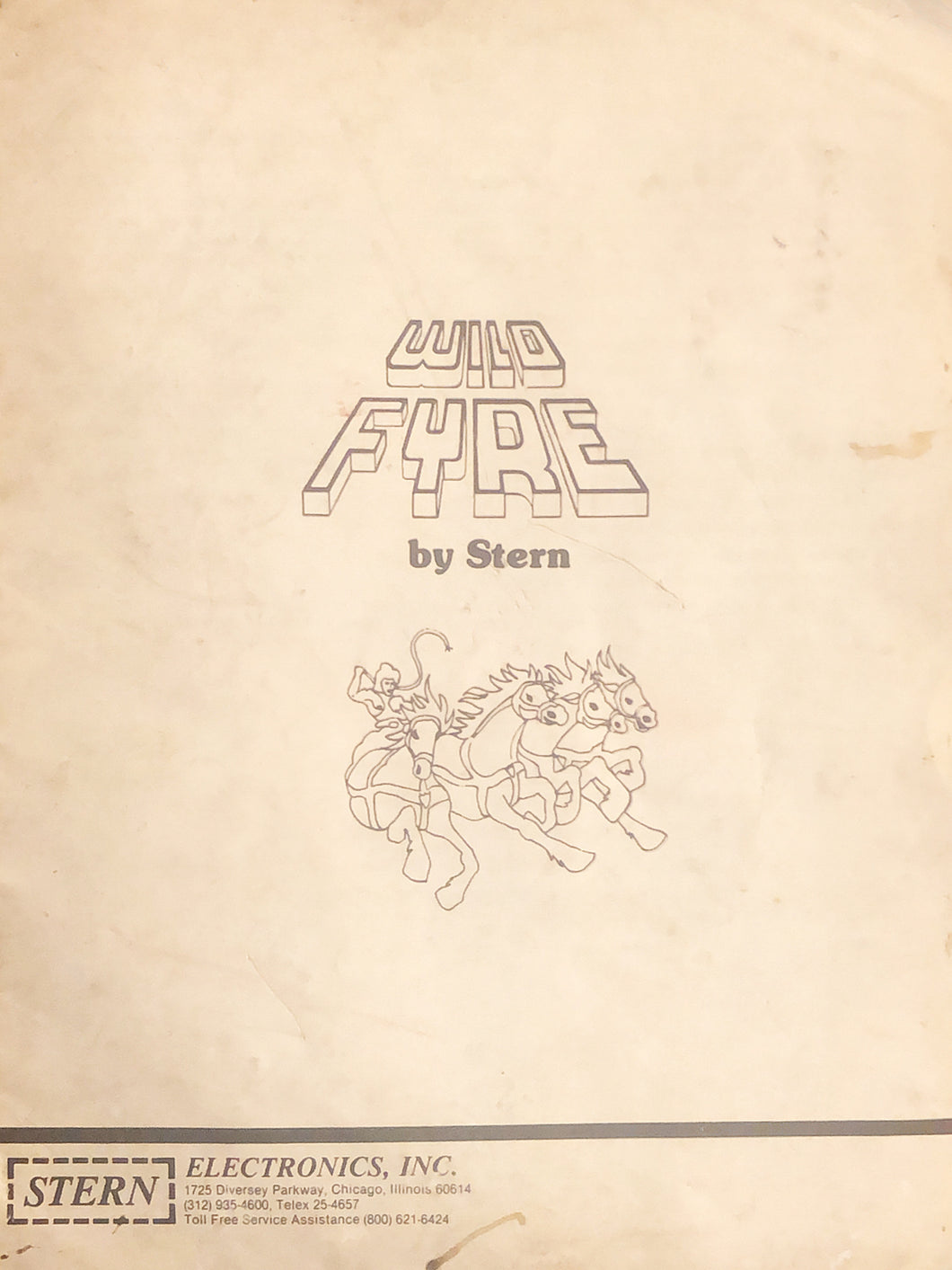 Wile Fyre Pinball Instruction Manual