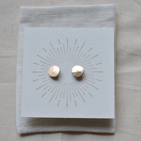 Gold Droplet Studs