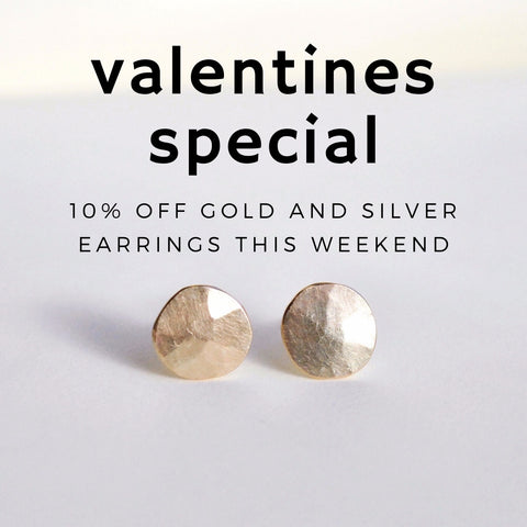 Gold Droplet Studs, and a Valentines offer