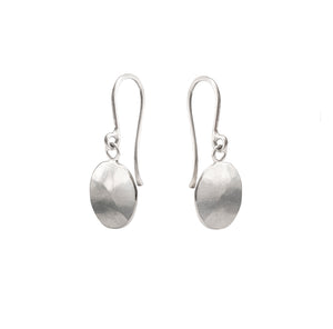 Droplet Earrings, Silver