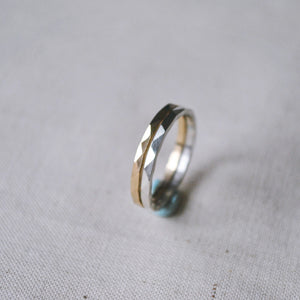 Multi-Faceted Band Ring, Silver