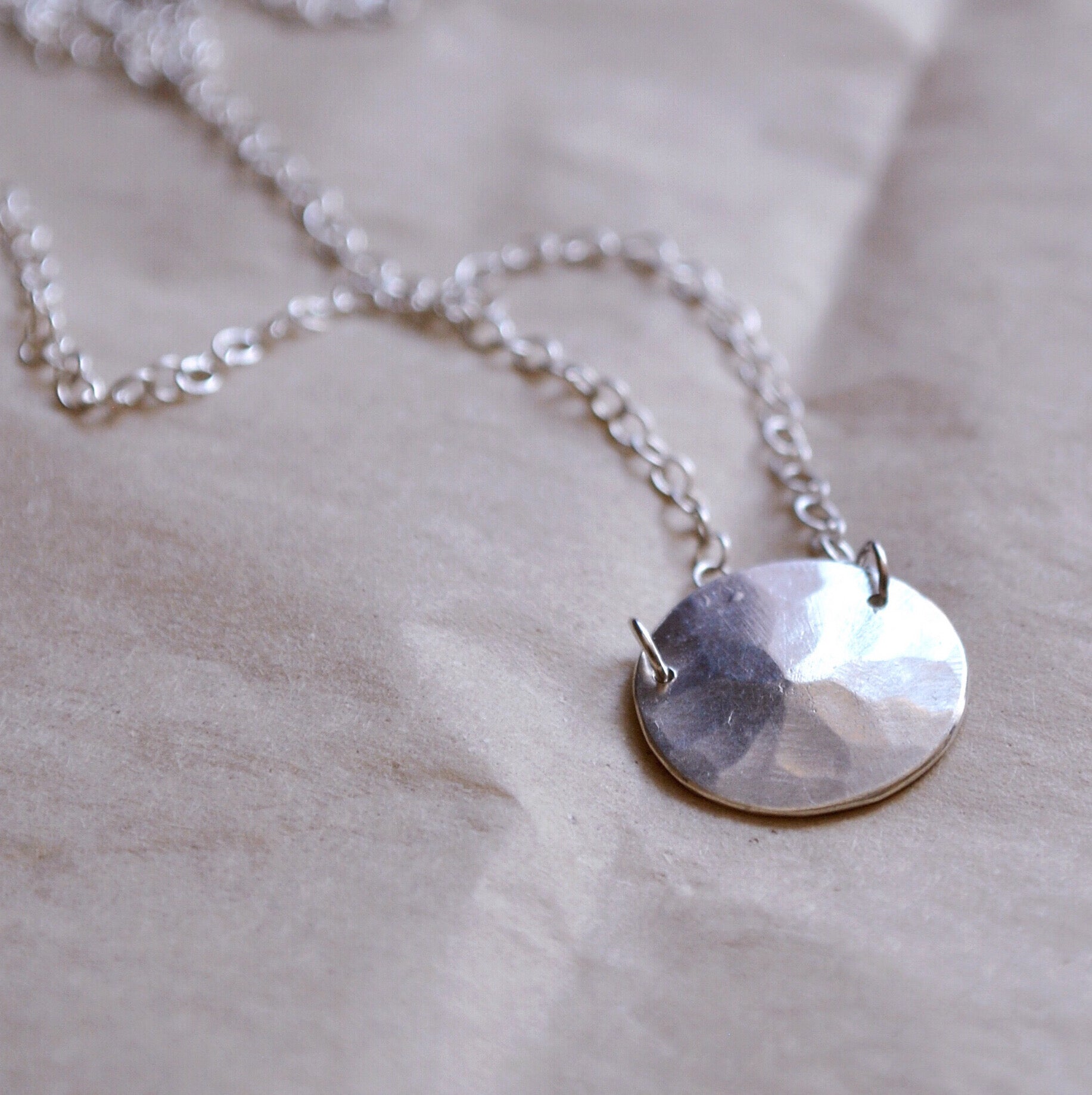 Droplet Necklace, Sterling Silver