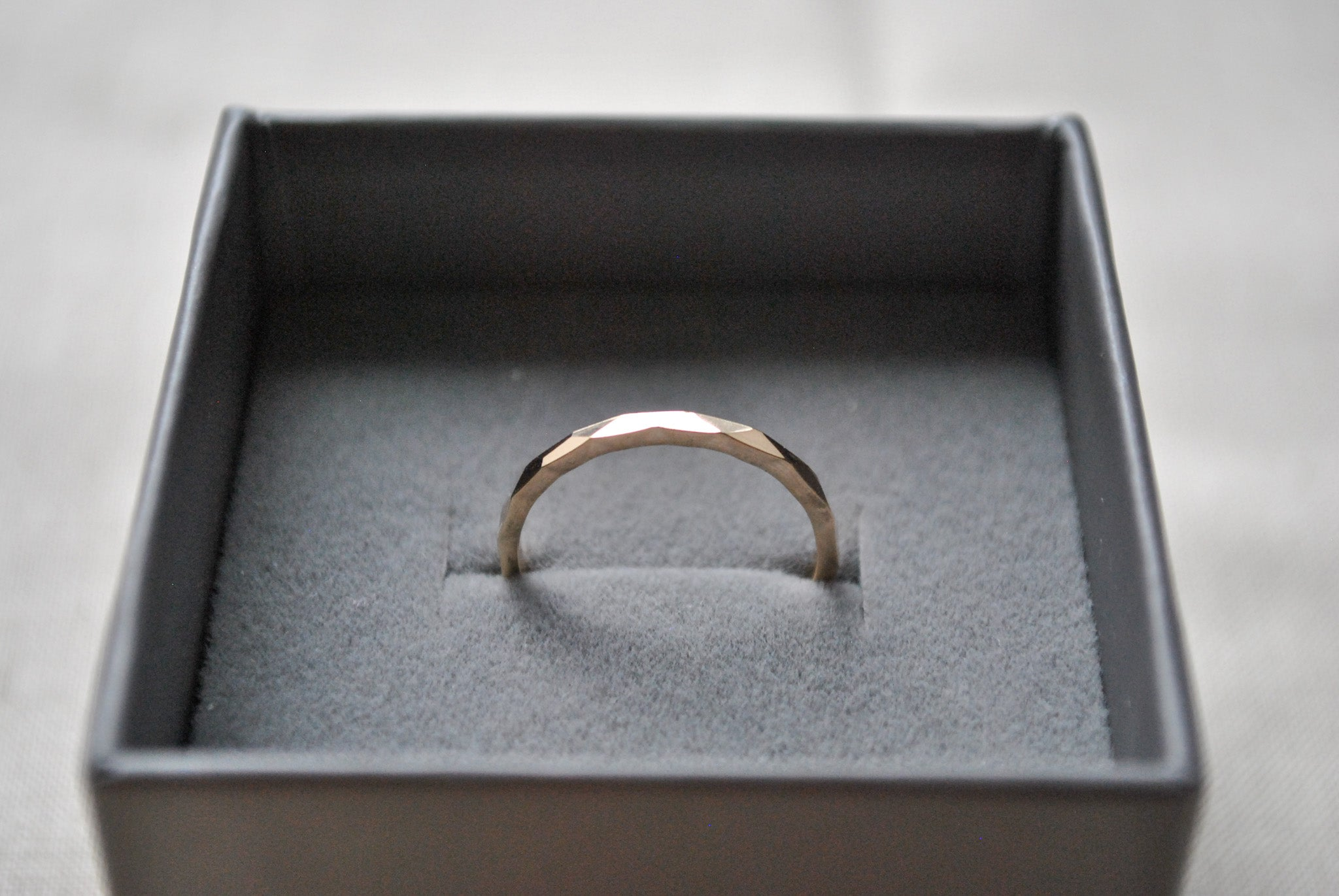 Multi-Faceted Band Ring, 9 Carat Gold