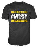 AFRICA'S FINEST -  Yellow Bars T-Shirt