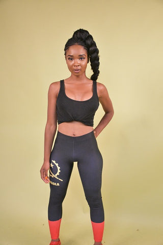 Angola Flag Print Leggings