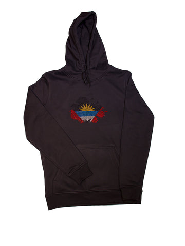 Antigua and Barbuda Unisex Rhinestone Premium Hoodie