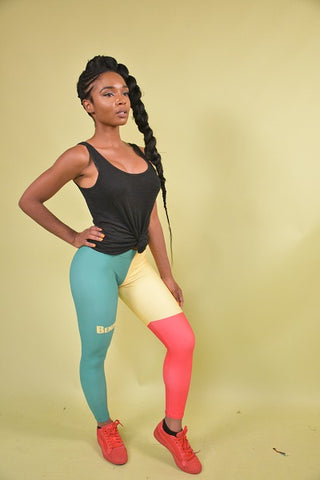 Benin Flag Leggings
