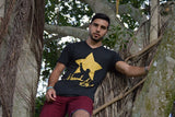 Alexander Star Signature Tee- Heather Black & Gold