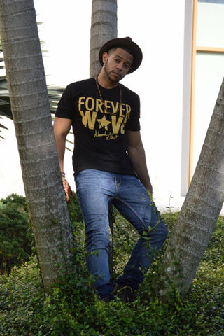 Forever Wave Black & Gold Tee- Limited Edition