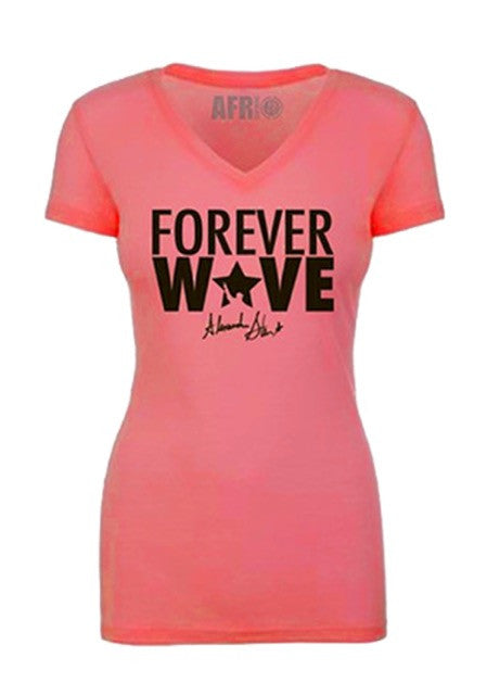 Forever Wave Pink & Black V-Neck- Limited Edition