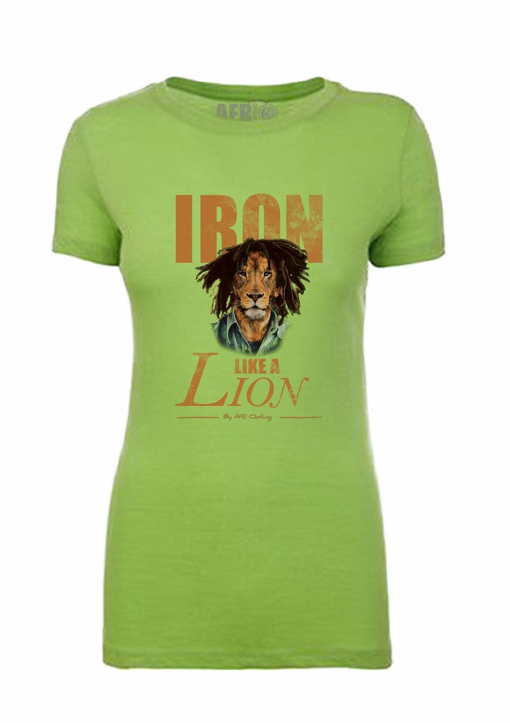Iron Like a Lion Ladies T-Shirt - Apple Green