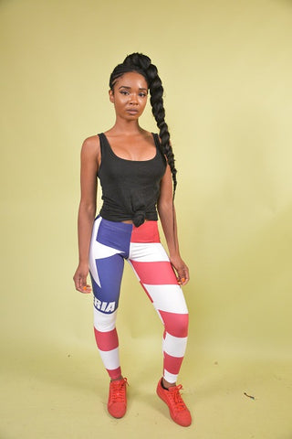 Liberia Flag Leggings