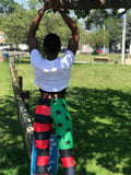 AFRican Revolution Flag Print Leggings
