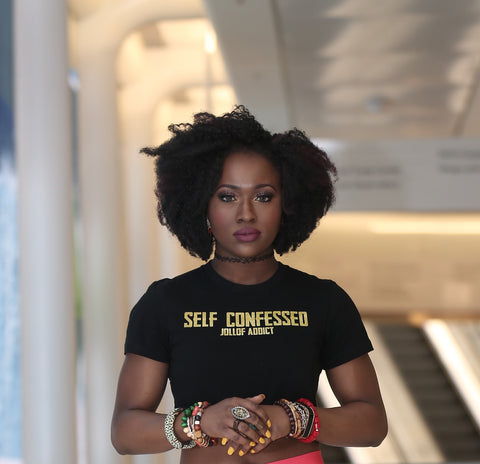 Self Confessed Jollof Addict Crop Top