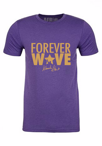 Forever Wave Purple & Gold Tee- Limited Edition