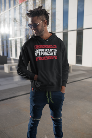 Africa's Finest Hoodie - Black/Red