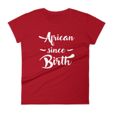 African Since Birth Red T-shirt