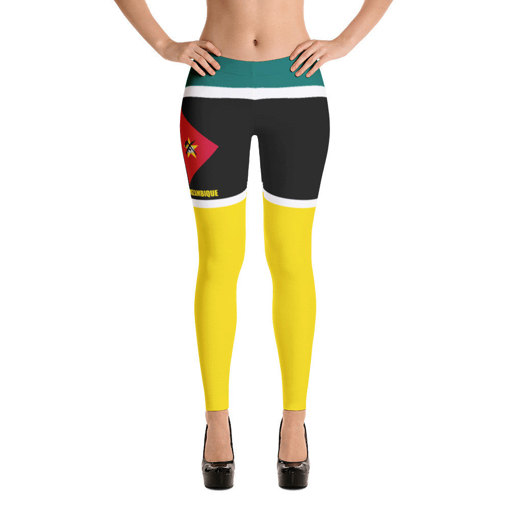 Mozambique Flag Print Leggings