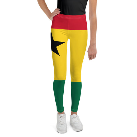 Ghana Flag Youth Leggings