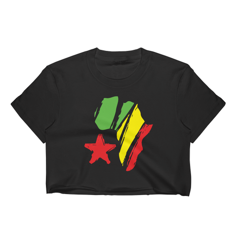 African Star Ladies Crop Top