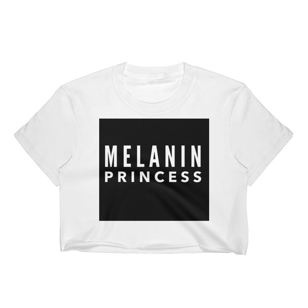 Melanin Princess - Block Crop Top