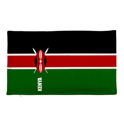 Kenya Flag Print Rectangular Pillow Case only