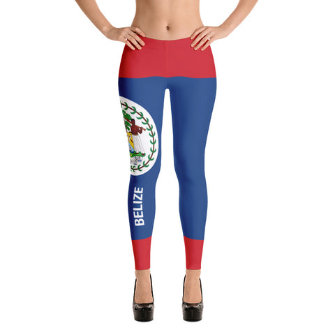 Belize Flag Print Leggings