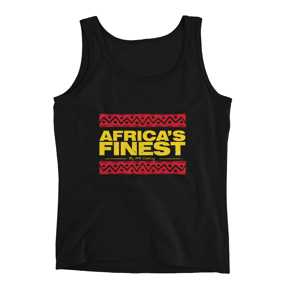 AFRICA'S FINEST- Black, Red & Gold Ladies Tank