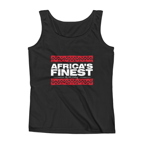 Africa's Finest Red/White Ladies Tank