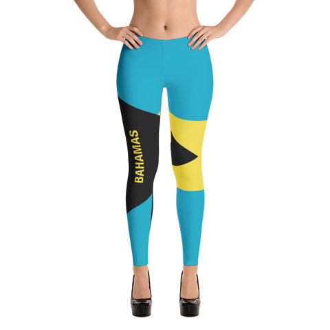 Bahamas Flag Print Leggings