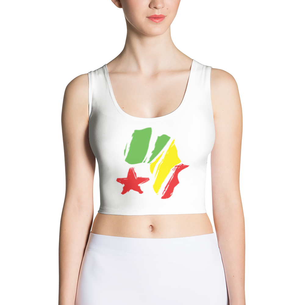African Start Cut & Sew Crop Top