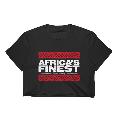 Africa's Finest Ladies Crop Top Black