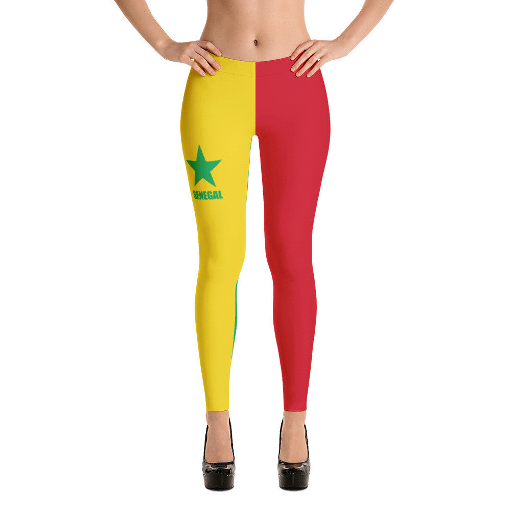 Senegal Flag Print Leggings