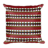 Ankara Print Square Decorative Pillow