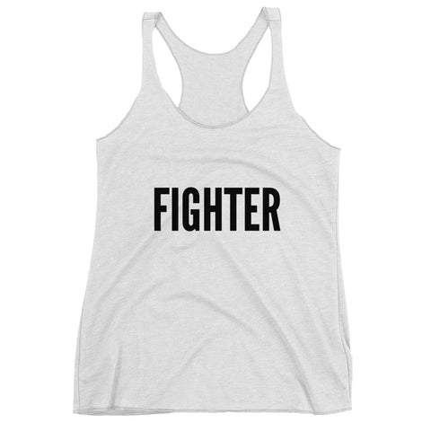 FIGHTER- Racerback Ladies Tank