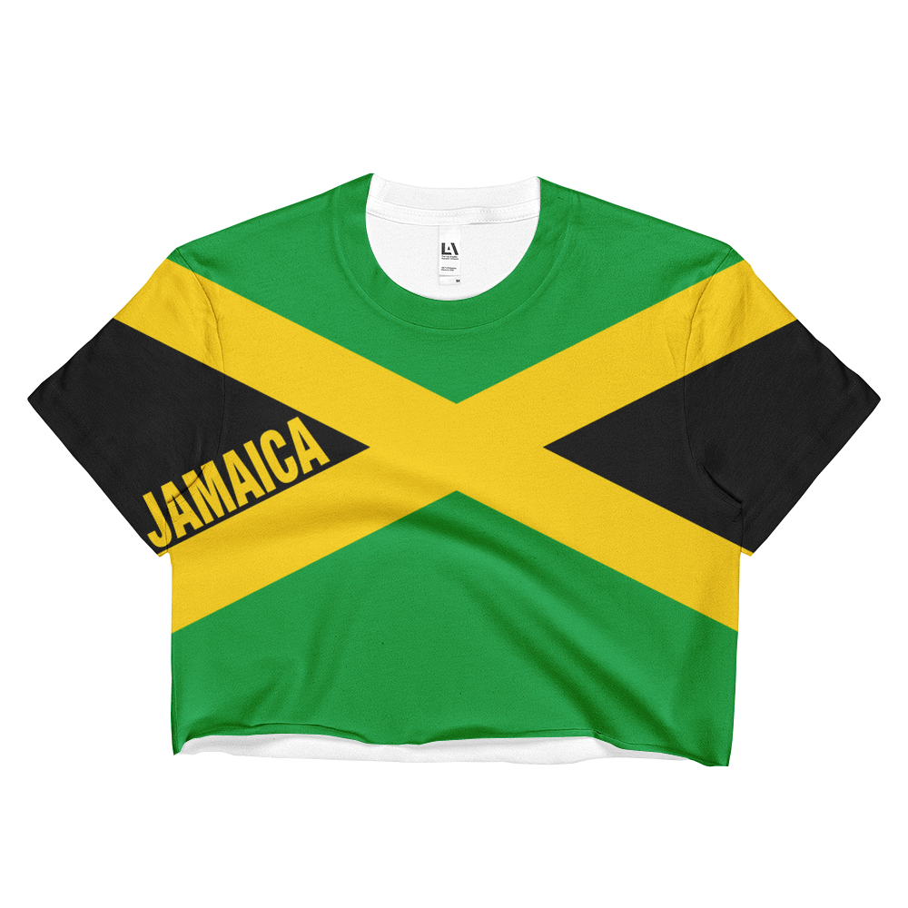 Jamaica Flag Print Crop Top
