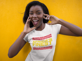 AFRICA'S FINEST- Ladies Black, Red & Gold Tee