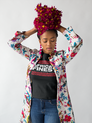 AFRica's Finest  - Ladies Red Bars Tee
