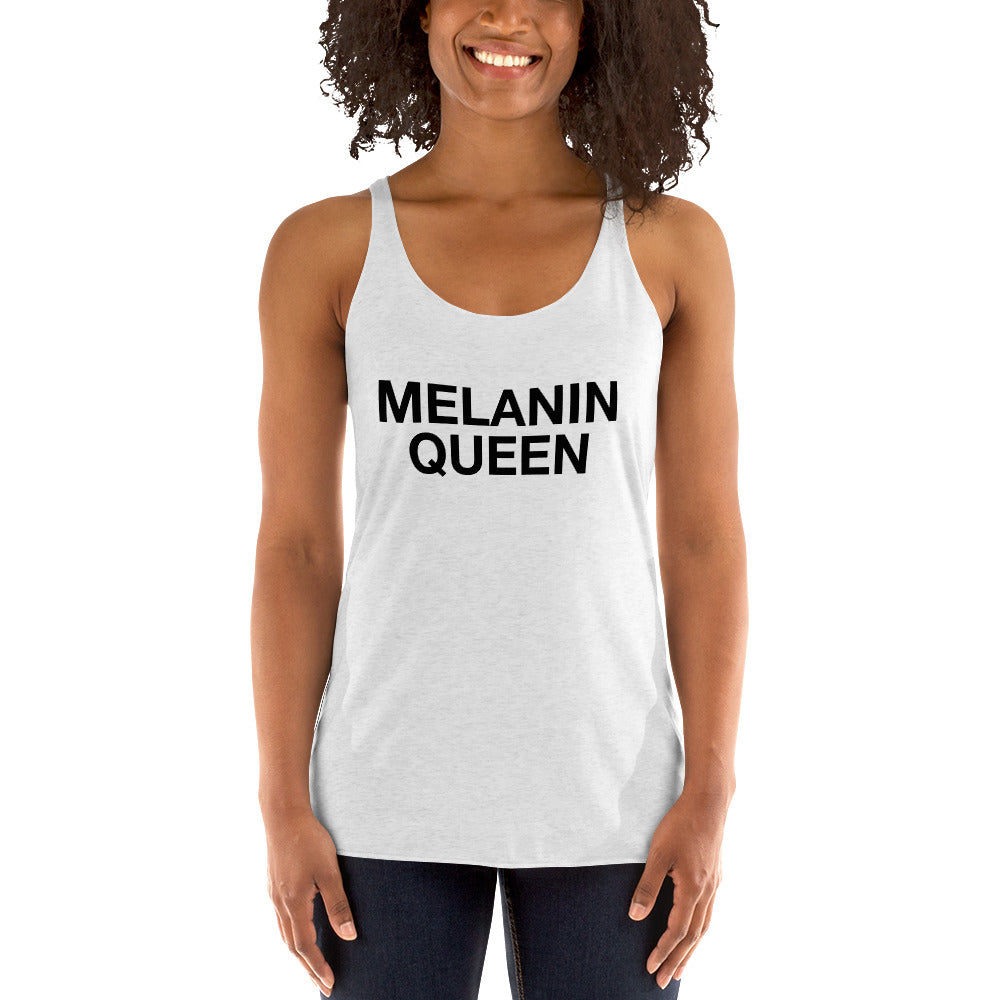 Melanin Queen -  Racerback Ladies Tank