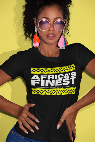 AFRica's FINEST -  Ladies T-shirt - White/Gold