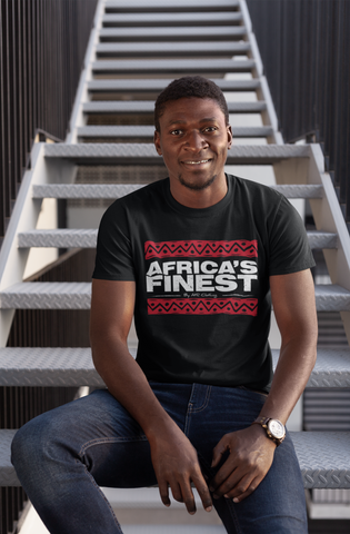 AFRICA'S FINEST - Red Bars T-Shirt