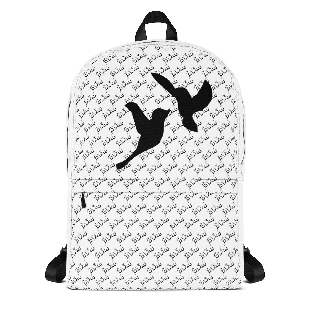 Backpack with Peace pattern