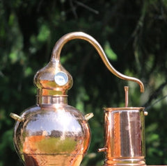 1 gallon copper still. Used for making moonshine, gin, whiskey, etc