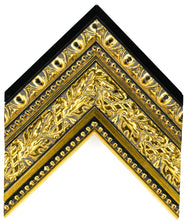 Load image into Gallery viewer, LARGE OPULENT GOLD & BLACK 4 1/4""